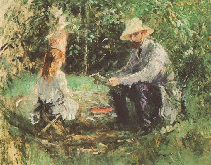 berthe-morisot-eugene-manet-and-his-daughter-in-the-garden